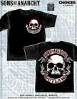 Sons of Anarchy SOA Scroll and Skull Outlaw Reaper TV Samcro Biker Shirt 28-615