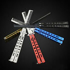 Training Sport Stainless Steel Colorful Butterfly  Comb Tool Folding Comb Knife*