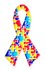 Autism Awareness Gold Plated Ribbon Pin Badge