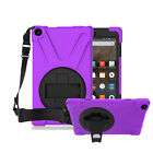 Hybrid Heavy Duty Shoulder Strap Shockproof Cover Stand Case For Amazon Tablets