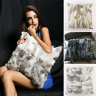 Luxury Warm Real Thicken Trim Rabbit Fur Pillow Case Cushion Cover Seat Decor