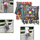 Hmong Vintage Ethnic Shoulder Bag Embroidery Boho Hippie Tassel Tote Messenger