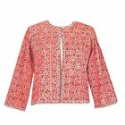 Anokhi Coral Floral Summer Jacket, 100% Cotton