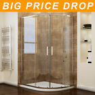 1000x900mm Offset Quadrant Shower Enclosure Door and Tray Walk In Corner Cubicle