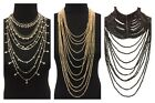 Blingustyle Fashion Women Big Bib Statement Crystals Necklace Large Long Chain