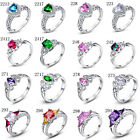 Clearance Sale Fashion Women Gemstone Jewelry White Gold Filled Ring Sz 6789 10 image