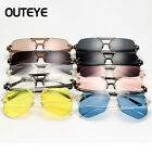 Women Oversized Clear Lens Rimless Sunglasses Gold Metal Frame Vintage Retro New