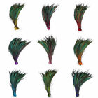 50 pcs natural Dyeing beauty peacock Sword feather 14-16 inches