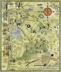 1927 Pictorial Map Colgate University Campus and Environs Reprint Ready to Frame