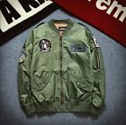 Fashion Men's Air Jacket MA1 Army Flight Bomber Jacket Coat Embroidered Outwear