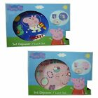 Peppa Pig 3 Piece Lunch Breakfast Set Girls Pink Or Boys Set Plate Bowl Cup NEW