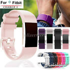Replacement Silicone Leather Sports Watch Band Strap Bracelet Fr Fitbit Charge 2