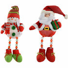Pre-Lit LED Sitting Santa, Snowman Light Up Body and Legs Christmas Decoration