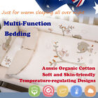 4Pcs Baby Toddler Kid Quilt Sheet Pillow Case Bedding Set 2.5tog 3.5tog Organic