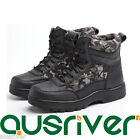 Clearance Outdoor Unisex Leather Work Boots Safety Steel Toe Cap Shoes High