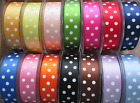 BERISFORDS POLKA DOT SATIN SPOTTY RIBBON  VARIOUS COLOURS SOLD BY THE METRE