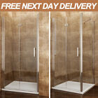 800mm Frameless Bifold Shower Door Enclosure Hinge With Tray Waste Riser Cubicle