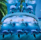 Sweet Cute Dolphin Cotton Queen Size Bedding Sets Duvet Cover Pillowcases As Pic