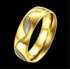 Stainless Steel Gold Band Rings Size 7-10 New Men/Women's Gift Weeding Jewely