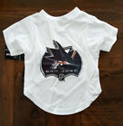 NEW SAN JOSE SHARKS DOG PET PERFORMANCE T-SHIRT TEE ALL SIZES $10.95 USD on eBay