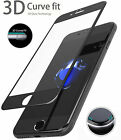 3D Tempered Glass Screen Guard for iPhone 6, 6s, 6s+, 7 and 7+ (Black, White)