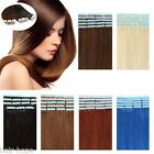 "16""18""20"" Seamless Tape in Weft Brazilian Remy Human Hair Extensions 20pcs 40pcs"