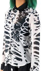 Fearless Illustration XYLOPHONE Abstract RIBS Ribcage Chiffon Bluse Gothic