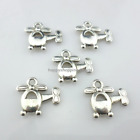 40/300pcs Tibetan Silver Aircraft Helicopter Charms Pendants 14x15mm