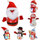 Snowman Santa 8 Musical Songs and Snowing Effect Colour LED Body Small Large
