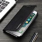 Kyпить Magnetic Carbon Leather Flip Wallet Phone Case Cover for Apple iPhone 7 6s 5 на еВаy.соm
