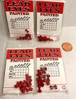 Wapsi Red Dumbbell Lead Eyes 10 Eyes/ pkg Choice of Size & Quantity ( 1 Pack)