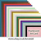 A4 Quality Pearlescent Card Double Side. Choose Colour and Quantity.