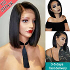 Glueless Full Lace Human Hair Wigs Brazilian Black Short Hair Lace Front Wig Bob