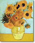 HUGE Van Gogh 12 Sunflowers Stretched Canvas Giclee Art Print Repro ALL SIZES