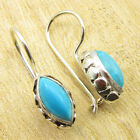 Classic MARQUISE TURQUOISE ART Earrings Silver Plated Jewelry 1* WHOLESALE PRICE
