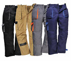 Portwest Workwear Texo TX11 Pants Contrast Kneepad Work Trousers - All Colours