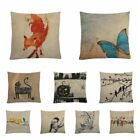 Magic Pillow Case Funny DIY Flax Cushion Cover Square Shaped Cute Animal