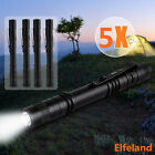5PCS Elfeland 4000LM LED Lamp Light Clip Mini Penlight Flashlight Torch 2*AAA
