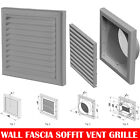 """Grey Extractor Fan Wall Fixed Louvre Grill Grille  Ventilation 4"""" , 5"""" , 6"""""""