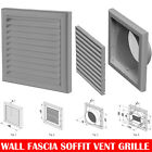 "Grey Extractor Fan Wall Fixed Louvre Grill Grille  Ventilation 4"" , 5"" , 6"""