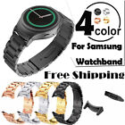 For samsung watch S2 black watchband with Adapter strap Stainless steel