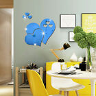Love Hearts Wall Sticker Decal DIY Home Room Art Mural Décor Removable 3D Mirror