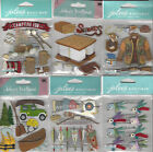 U CHOOSE  Assorted Jolee's OUTDOORS 3D Stickers hunt camp fish canoe hike smore
