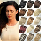 """Full Head 14""""-22"""" 70g-120g Clip in Real Human Hair Extensions 7PCS"""