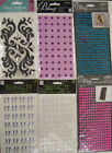 U CHOOSE Assorted Nicole BLING IT Jolee's ALL THAT BLING 3D Stickers pearls gems