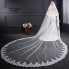 New White Ivory Cathedral Wedding Bride Veil Bridal Accessories With Comb