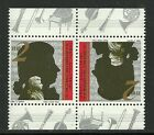 Israel stamps, Sc 1101 Mozart tete-beche pair,MISSING FROM YOUR COLLECTION MNH