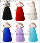 Long Red/Black/Ivory Petticoat Underskirt Skirt Slips Women Tutu Tulle 5 Layers