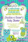 Monsters Inc. Baby Shower Invitation - MOB01