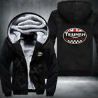New TRIUMPH MOTORCYCLE warm Thicken Hoodie Jacket Unisex Sweater fleece coat $49.98 AUD on eBay